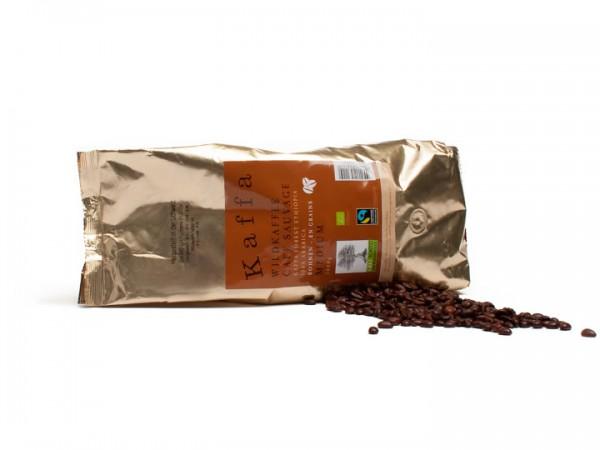 Kaffa Wildkaffee Medium ganze Bohnen