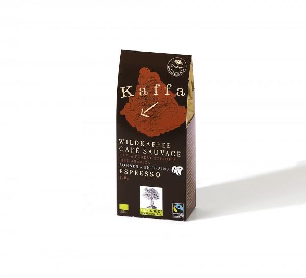 Kaffa Wildkaffee Espresso 220g ganze Bohnen
